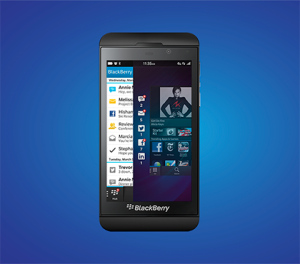 New Blackberry Z10, courtesy of BlackBerry #BlackBerry10TO
