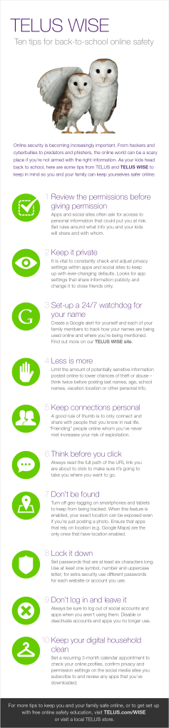TELUS WISE Tips for Back to School